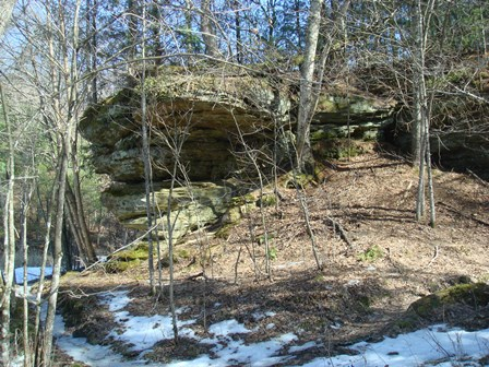 Rock Outcrop along Cut-Off Trail