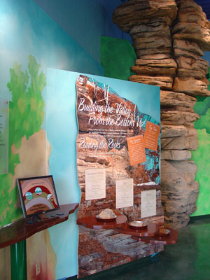 Picture shows a display in the KVR Visitor Center Exhibit