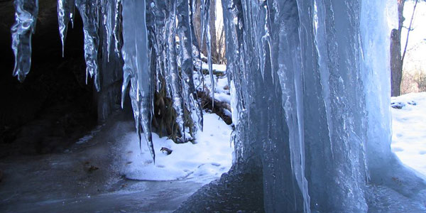 One of the several ice caves